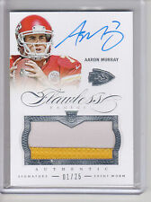 2014 Panini Flawless AARON MURRAY 2 COL0R PATCH AUTO RC SP #1/25 FIRST MADE!!