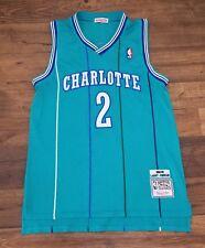 04f9b25f4 Larry Johnson  2 Charlotte Hornets Mitchell   Ness Mesh NBA Throwback Jersey  M