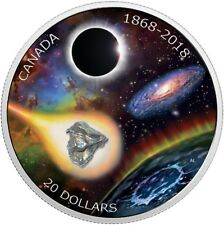 CANADA 2018 $20 150th Anniversary of Royal Astronomical Society - Meteorite Coin