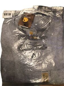 Carhartt Men's K87 Workwear Pocket Short Sleeve, Gray , Size 2xl tall