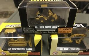 (3) CAT Construction Minis * NORSCOT 1:87 scale Diecast Tractor Loader Excavator