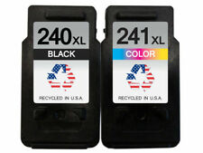Remanufactured Ink Cartridges for Canon PG-240XL&CL-241XL 1B/1C Shows Ink Level