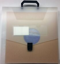 "Plastic Carrying Case w/ Handle 1 pc / 12"" Vinyl 33rpm LP Record Album supplies"