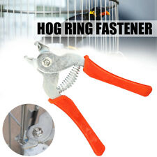 Hog Ring Pliers Tool M Clips Staples Chicken Bird Mesh Cage Wire Fencing Netting
