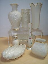 Lot of  8 Lenox Vases, Perfume Bottle With Stopper, Candy Dish, Bud Vase, & Bowl