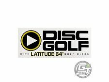 "Latitude 64 Play Logo Disc Golf 5.5"" x 2.25"" Sticker - White"