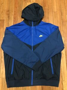 Nike Men's Essentials Zero Windrunner Jacket BLUE/OBSIDIAN 727324 453 Size XXL