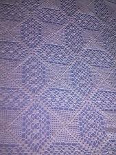 Copriletto cotone eseguito artigianamente ad uncinetto  a mano