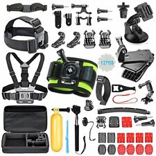 51-in-1 Accessories Kit Essential GoPro Hero 5/4/3/2/1 Session Hero Bundle Black