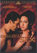 Original Sin (DVD, 2002, Unrated, Widescreen) Angelina Jolie RARE