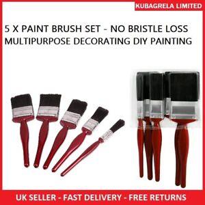 5 x PAINT BRUSH SET - Brushes advanced BRISTLES DECORATING DIY PAINTING