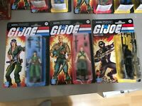 GI JOE WAVE 3 RETRO FIGURES SNAKE EYES, DUKE & LADY JANE LOT OF 3