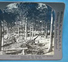 WW1 Stereoview Photo Battery Of Famous 270 Mortars Howitzers Mt St Eloi Keystone