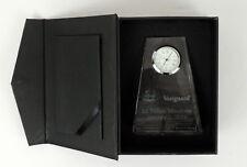 "Vanguard 2 Trillion Milestone Crystal Clock  Award Presentation Quartz 2013 4""H"
