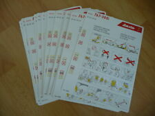 Airline safety cards: set w 25 pcs LAUDA Air Boeing 767-300ER   04-2007