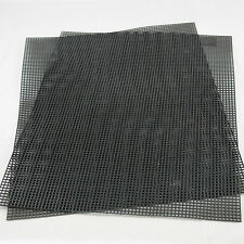 "US Made 2 Plastic Drainage Mesh / Screen for Bonsai Pot -10.5"" x 13.5"" Black"
