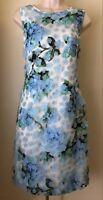 KARL LAGERFELD PARIS Hydrangea Applique Floral Lace Sheath Dress LD8O8137 NWT