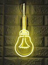 "New Bulb Edison Neon Light Sign 14"" Lamp Beer Pub Acrylic Real Glass Handmade"