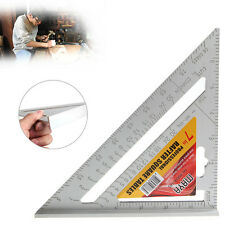 "7"" Roofing Rafter Square Alloy Guide Tool Ruler Triangle Measure Protractor 1Pc"
