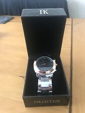 Boxed New IK COLLECTION Mens SS Large Faced Watch & Band 6970G - Orlando