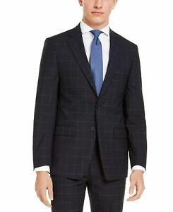 Calvin Klein Mens Suit Jacket Blue Size 38 X-Slim Fit Two-Button Wool $450 159