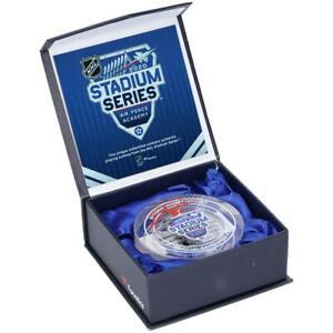 PHILIPP GRUBAUER Autographed Stadium Series GU Ice Crystal Puck Display FANATICS