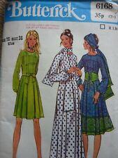 Butterick B6316 patrón extraña Sin Mangas ajustado y acampanado vestidos Tallas 8-24