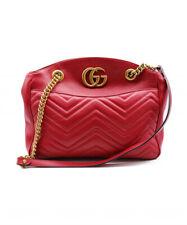 GUCCI GG Marmont Shoulder Bag Red