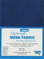 By Annie Light weight Mesh Fabric 18 x 54-inch 100% Polyester Blastoff Blue