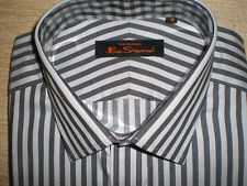 Ben Sherman Men's Striped Cotton Collared Casual Shirts & Tops