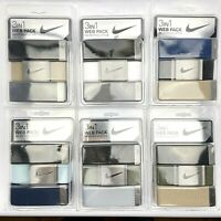 Nike Golf 3-in-1 Web Pack Belts Adjustable Men's One Size Fits All Up To 42