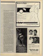 Budget Rent A Car 1979 Print Ad