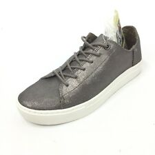 TOMS Lenox Womens Low Top Silver Metallic Shoes Size 6 NEW