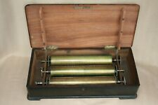 More details for x 3 boxed large antique music box cylinders