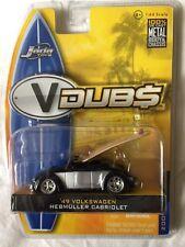 Jada V-Dubs 49 1949 VW Volkswagen Hebmuller Cabriolet Surfboard Convertible 1/64