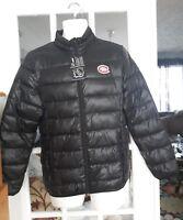 NWT  NHL FANATICS Montreal Canadiens HABS black puffer coat jacket mens S-M