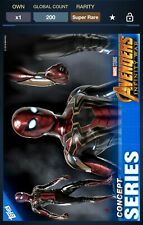 Topps Marvel Collect Avengers Infinity War Concept Series Iron Spider 200cc