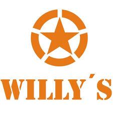 Willy's Allied Star Adesivi Del Veicolo US Army Arancione WK2 Auto d'epoca 4x4