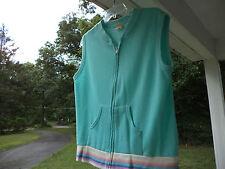Vintage Creslan Acrylic Zip Up Vest Top Sears Bazarr Prop Clothing ?