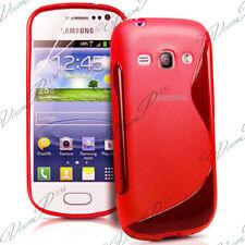 ACCESORIO FUNDA CARCASA DE SILICONA GEL S ROJO Samsung Galaxy Ace II X S7560M
