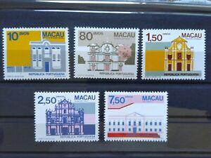MACAU MACAO COMPLETE SERIE 1983 MNH STAMP