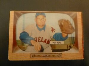 1955 Bowman # 38 Early Wynn, Cleveland Indians