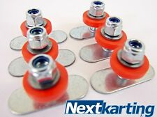 GO KART FLUSH FLOOR TRAY FITTING KIT -  PACK OF 6 - ROTAX CADET X30 IAME TKM PRO