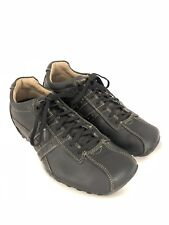 Skechers 60488 Elison Black Leather Driving Moccasin Casual Oxford Mens 9 EUC