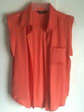 Sleeveless  Summer salmon/pink button up shirt/top Size 8