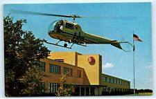 Fort Worth Dallas Helicopters Bell Helicopter Company BH Building Postcard D51