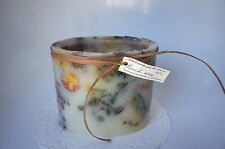 """""""WAXEN MOON"""" CANDLE STUDIO OVAL SHAPED WAX/DRIED FLOWERS  CONTAINER"""