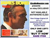 RARE 1971 Diamonds Are Forever British Souvenir Book Sean Connery James Bond 007