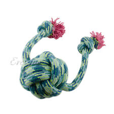 1-Piece Pet Toy Ball Knot with Dual Stopper End Long Tug Rope Chew - Colors Vary