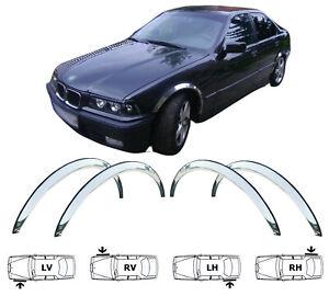 BMW 3 E36 COMPACT année '94-01 Extensions d'aile 2AV et 2AR Chrome SET NEUF